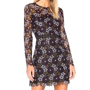 Cynthia Rowley Lynden Bell Floral Lace Mini Dress